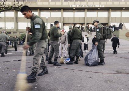 protesta de gendarmería - foto telam