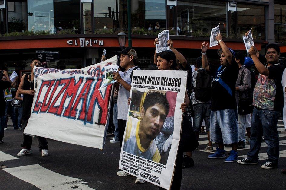Guzmán Apaza Velasco marcha