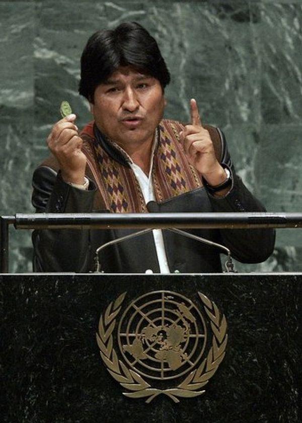 (FILES) Bolivian President Evo Morales h