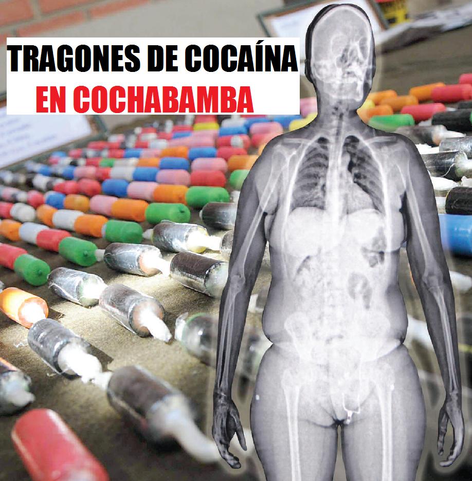 tragones de cocaína en cochabamba