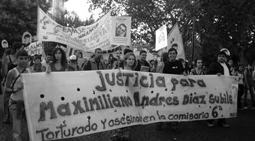 Maximiliano Diaz Subils asesinado en la comisaría 9