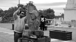 estatua de homenaje al Indio Solari
