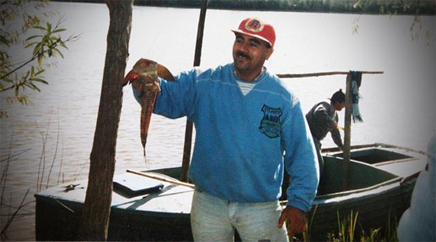 hacer unos años, pescando