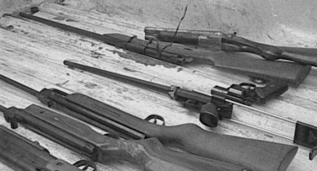 el arsenal del vecino asesino