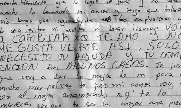 Carta del femicida