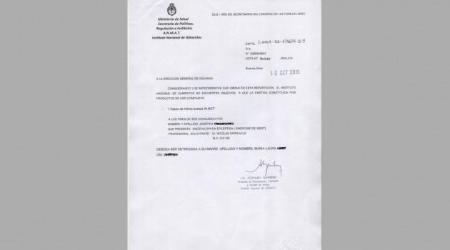 autorizacionmarihuananiñaTHC