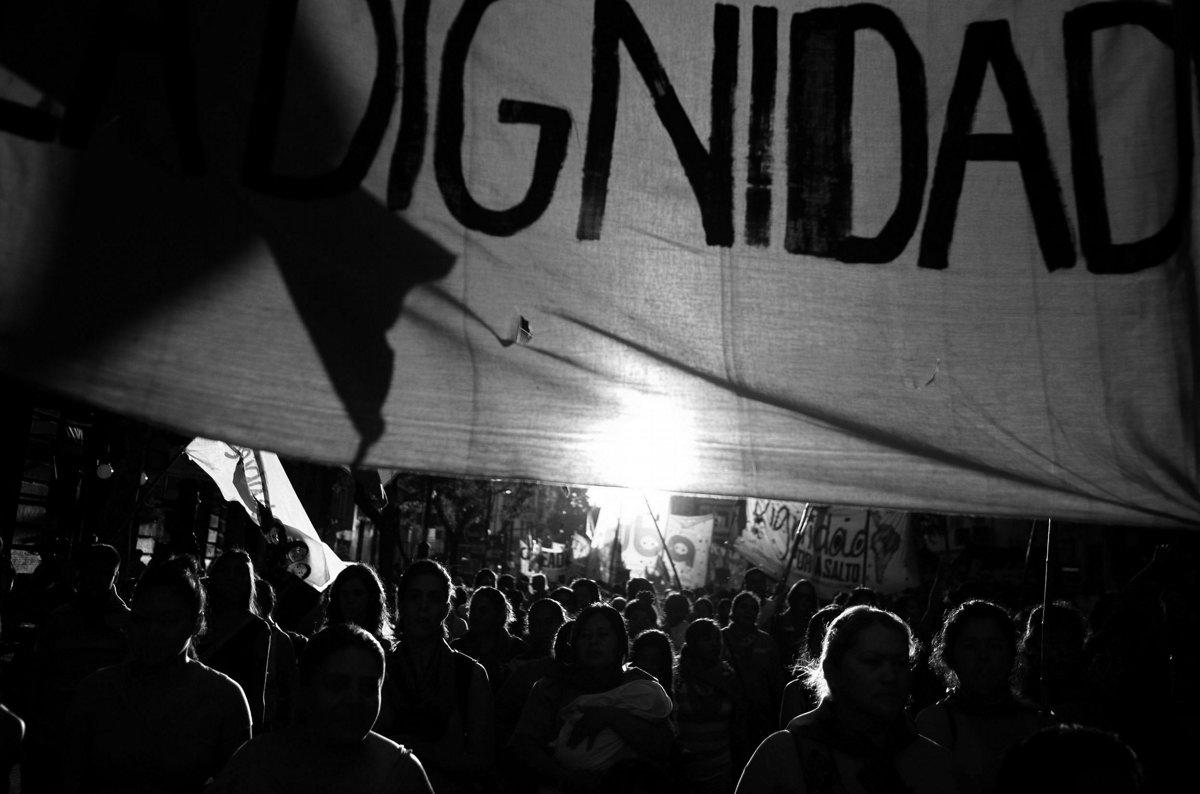 07-03-2014. Marcha dia de la mujer trabajadora. Mas de 7mil mujeres de distintas organizaciones sociales marcharon desde el congreso Nacional hasta la Plaza de Mayo conmemorando el día de la mujer trabajadora.