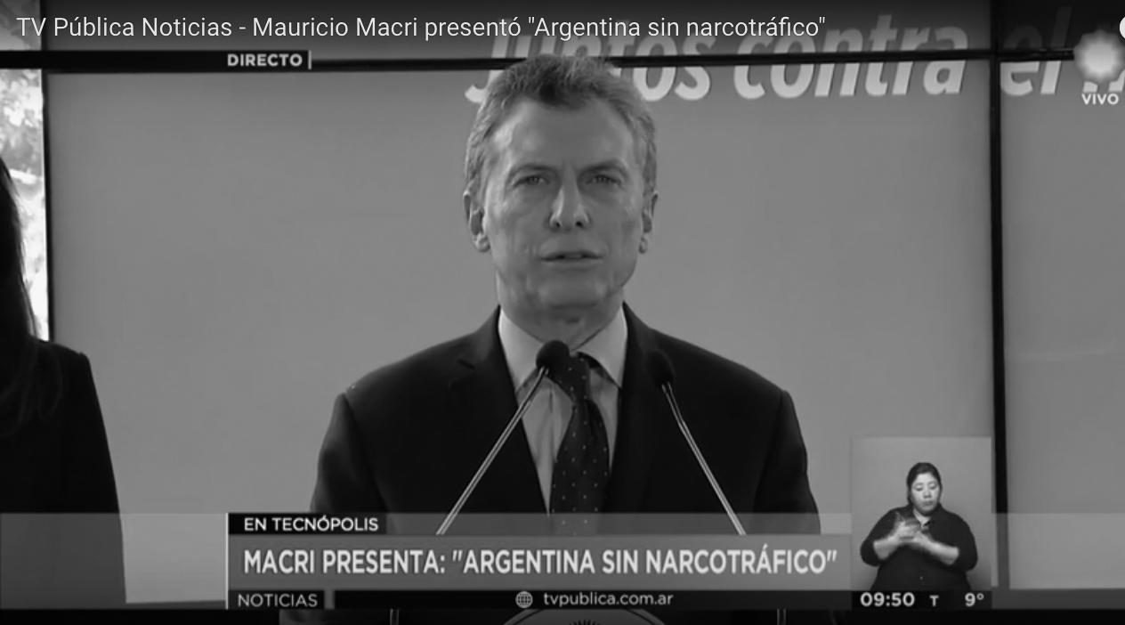 Macri narco cero