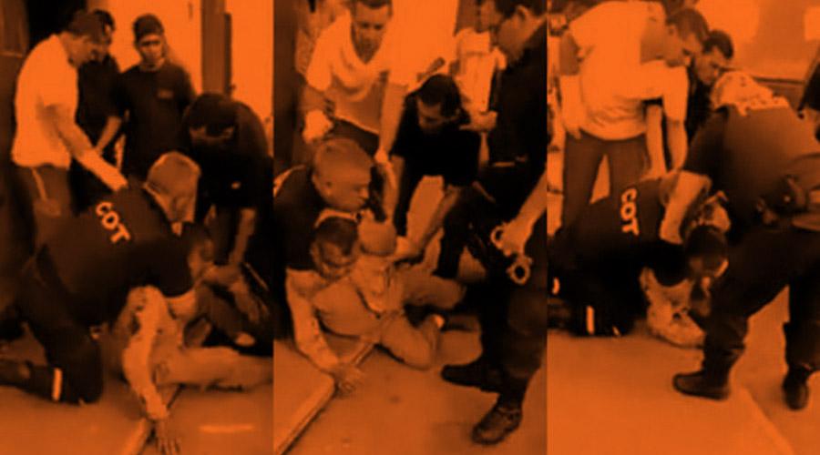 El historial sangriento del policía que atacó a un repartidor de harina