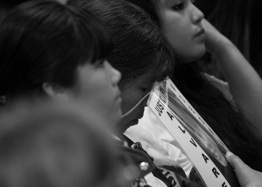 viedma -21/11/16 Juicio Oral y Publico por el crimen de Karen Alvarez, en el auditorium del del Superior Tribunal de justicia de Rio Negro. foto Pablo Leguizamon
