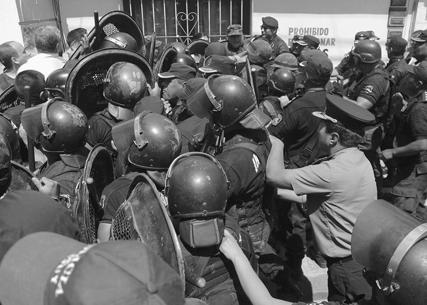 represión policías