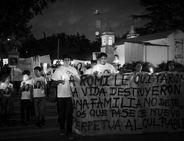 Santa Rosa: Marchan por Romina Cisterna
