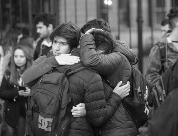 La Plata. Una Alumna de 4to año del colegio Nacional, de la UNLP se pego un tiro en medio de la clase. foto Gonzalo Mainoldi