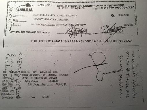 Cheque sobresueldos Guatemala