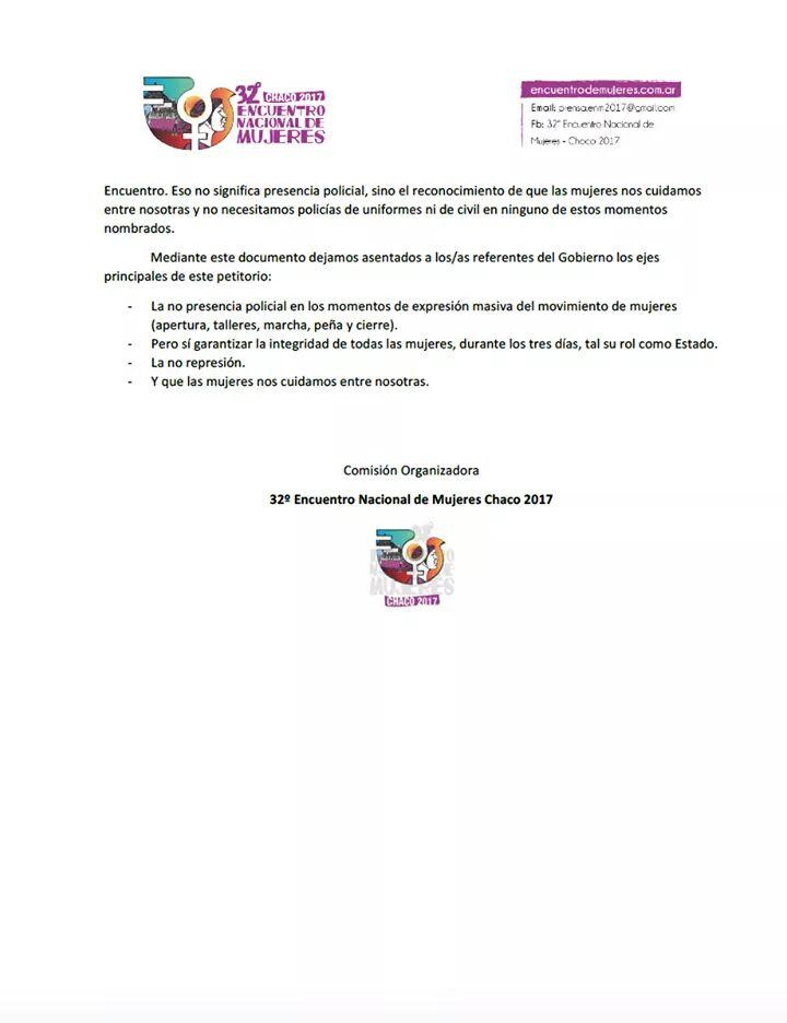 Documento Encuentro Nacional de Mujeres