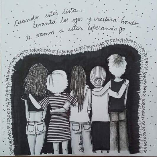 @RoFerrerIlustra : #NoSoyCopada y me abrazo a mis hermanas NO COPADAS...con la esperanza de que alguna vez abras los ojos ¡TE ESPERAMOS, COPADA! #Sororidad