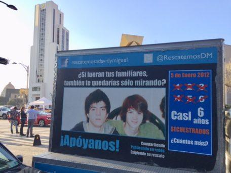 David y Miguel Ángel fueron secuestrados hace 6 años. Los familiares han tenido que hacer su propia investigación para tratar de dar con su paradero. Foto: Claudia Altamirano.