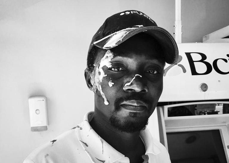 En marzo circuló la foto y el video de un trabajador haitiano agredido en su lugar de trabajo.