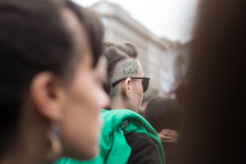 Paro de mujeres contrar el fallo en el femicidio de Lucía Perez. CABA, 5 de diciembre de 2018. Foto: Paola Olari Ugrotte.-