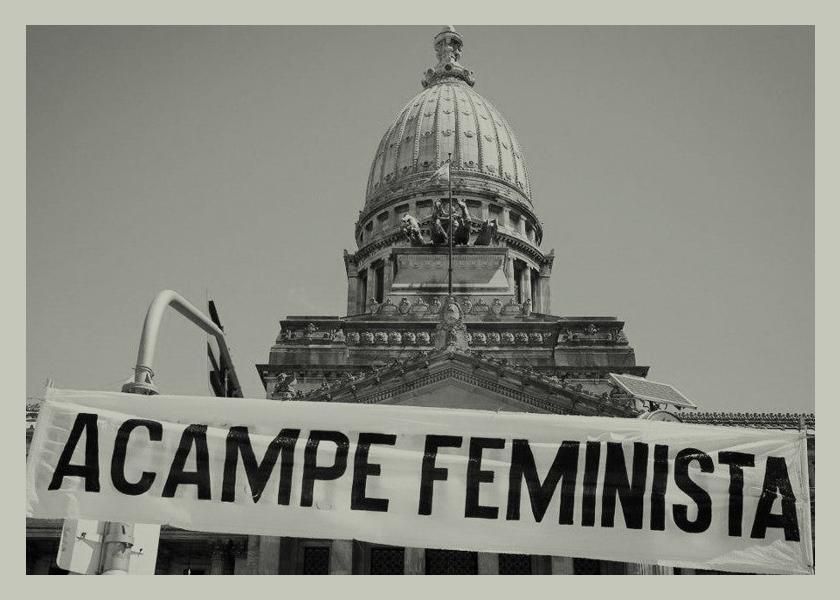 La previa del 8M: tres días de acampe feminista