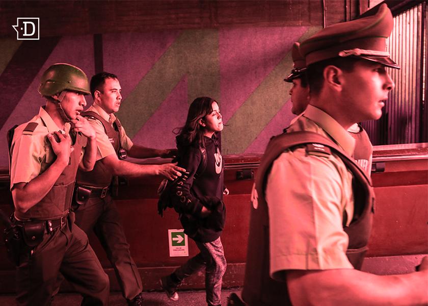 Chile arde: mujeres reprimidas y golpeadas