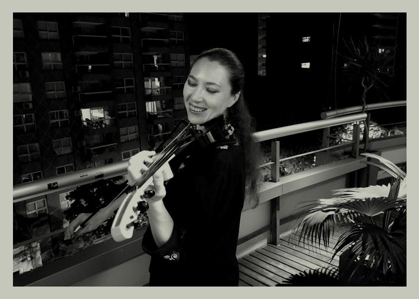 De refugiada en Varsovia a concertista de violín en la cuarentena tucumana