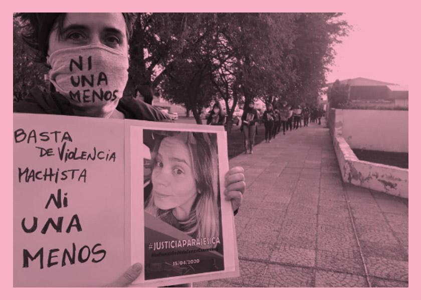 Barbijos Ni Una Menos: Santa Cruz reclama por la maestra asesinada