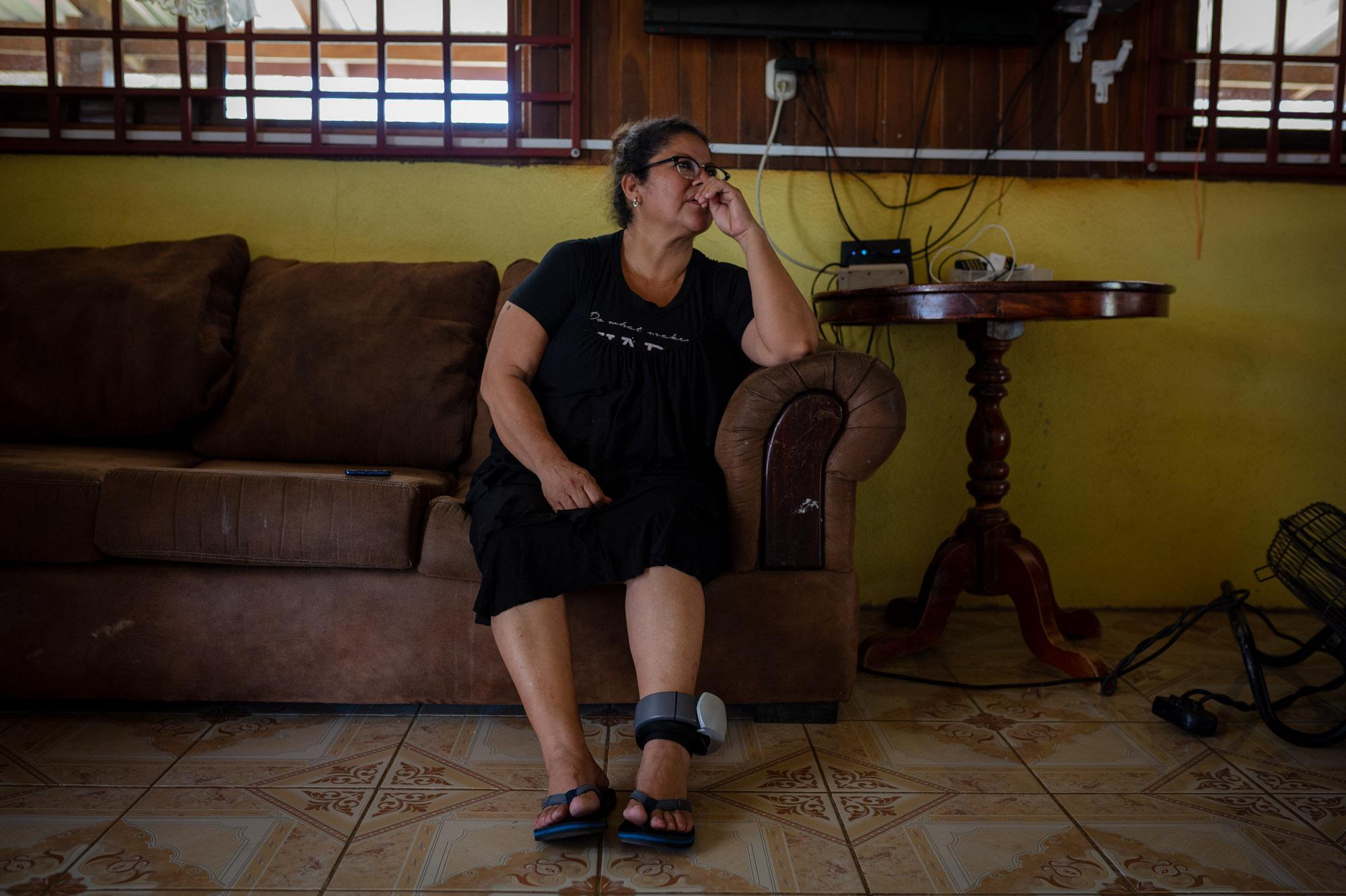 López Martínez, 'Mamá África', en su casa en la provincia de Guanacaste. Fotografía: César Arroyo / La Voz de Guanacaste