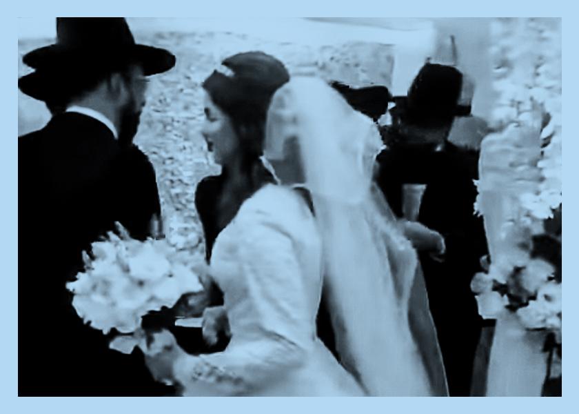 Muy ortodoxo: una boda judía con 100 invitados en plena cuarentena