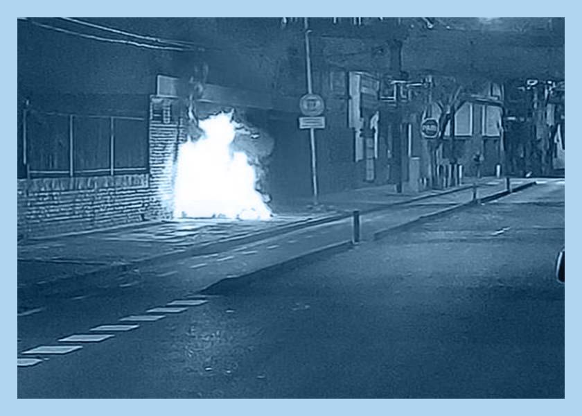Morir quemado en la calle