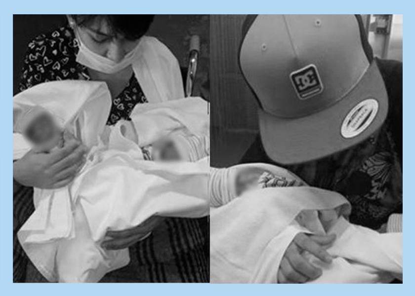 Caroline y Miguel, su pareja, fueron al hospital de Las Heras y no los atendieron. Ella terminó pariendo a sus gemelos en el baño.