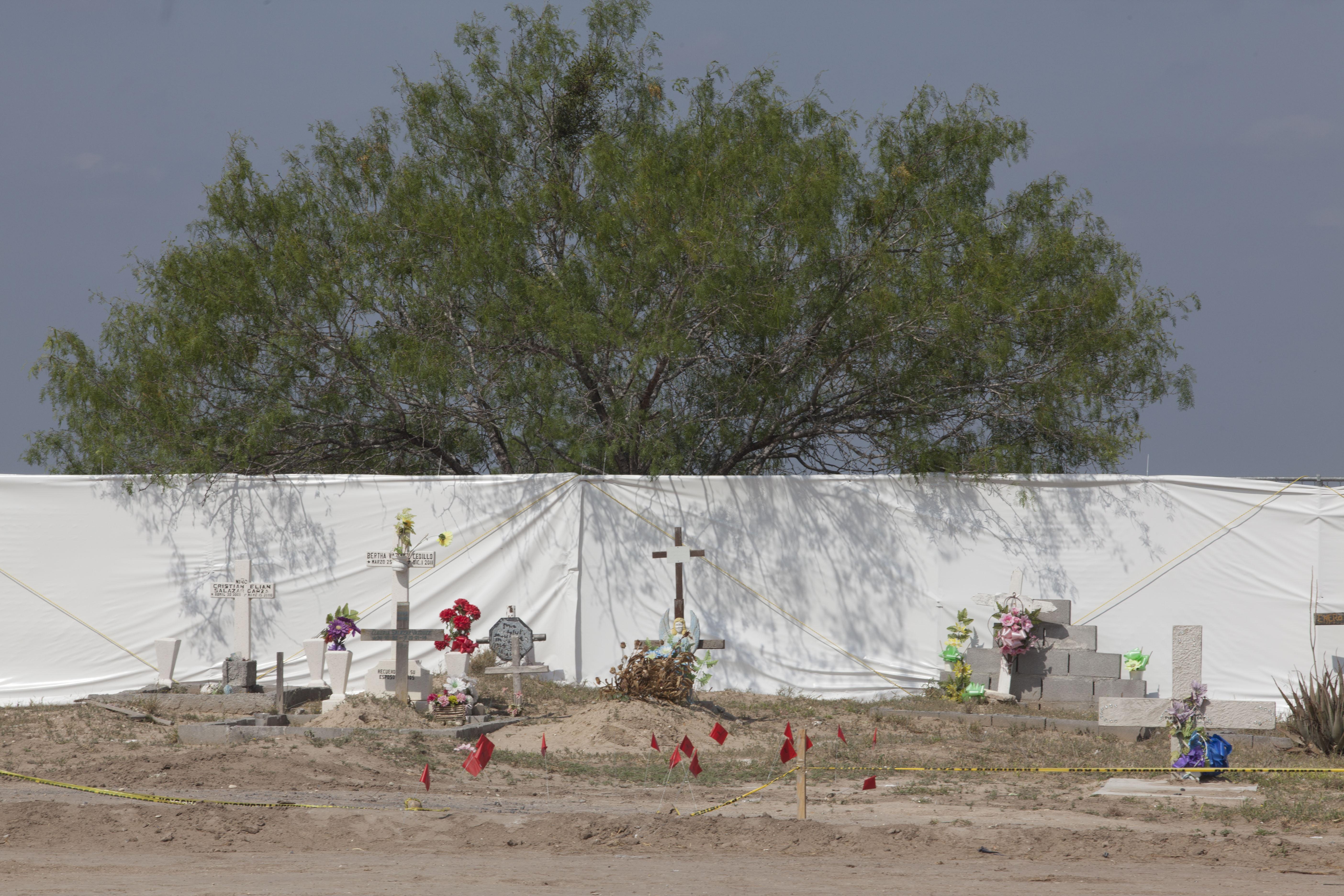 """Panteón Forense """"Miguel Alemán"""" en Tamaulipas. Crédito: Mónica González."""