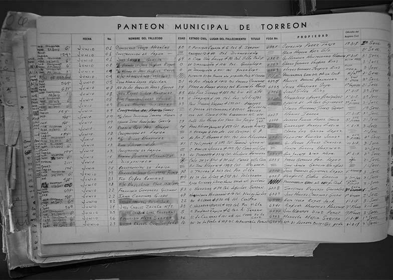 En los registros del panteón municipal, no hay rastro de algún entierro en fosa común realizado en las fechas en que Cosme Humberto debió ser enterrado.