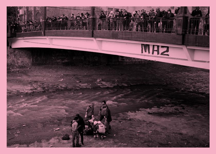 La historia del niño arrojado al río por carabineros en Chile