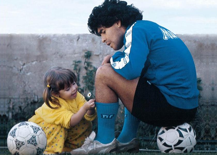 Maradona y dalma