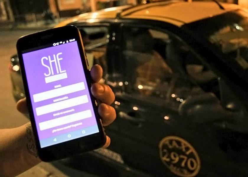 La app She Taxi llegó a Buenos Aires
